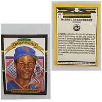 Vintage 1986 #4 Daryl Strawberry Donruss Diamond Kings Baseball Card