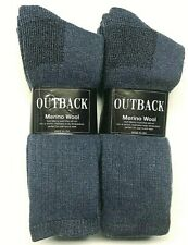 3 / 6 Pair Men Merino Wool Brown Hunting/ Hiking Heavy Boot Sock Size 10-13.USA.