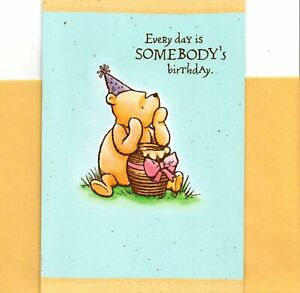 Happy Birthday To Someone Special Winnie The Pooh & Honey Pot Hallmark Card