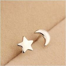 New! Moon Star Sterling Silver S925 Earring Love Heart Gift Her Wedding -ER74
