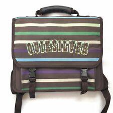Quicksilver Vintage 90s Y2K Mini Backpack Brown Striped School Book Bag