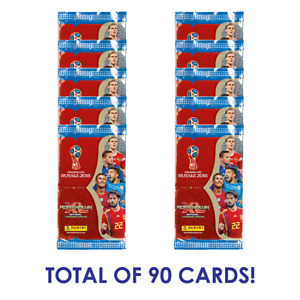 2018 PANINI ADRENALYN FIFA WORLD CUP 10 PACKS (90 CARDS) LOOK FOR MBAPPE!