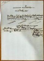 Prato Firenze ricevuta magazziniere viveri spedali di Prato truppa francese 1802