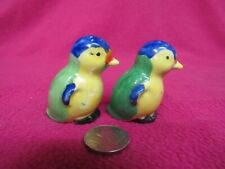 Vintage Colorful Resting Finch Bird Salt and Pepper Shakers Ceramic 7