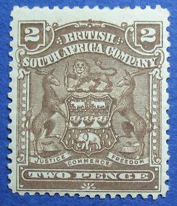 1898 RHODESIA 2d SCOTT# 61 S.G.# 79 UNUSED                               CS09678