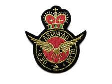 Applikation zum Aufbügeln Wappen Krone Maritim Patch Flicken [91019]