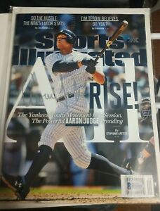 2017Aaron Judge Signed 'Sports Illustrated'  Beckett Authentication No Label