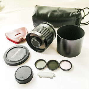Nikon F Mount 500mm f.8 Mirror Lens RMC Tokina with Filters
