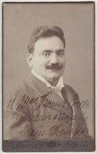 Enrico Caruso – uncommon signed cabinet-photograph