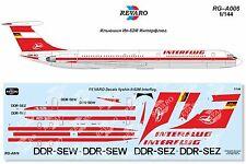 Revaro Decal IL-62M Interflug for Zvezda kit 1/144