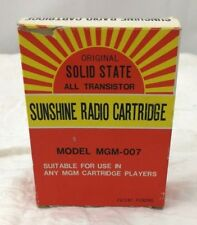 Vintage Sunshine 8-Trac to AM Radio Cartridge MGM-007 Solid State Untested