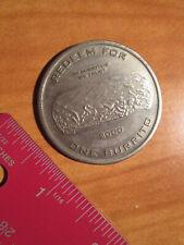 2000 Metal CHIPOTLE Mexican Grill COIN/TOKEN Good4 Free Burrito Gift Coupon Card