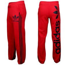 adidas linear Trackpant Trefoil Trainingshose Jogginghose Sporthose Gr.s rot