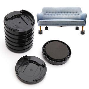 8pcs Sofa Furniture Raisers Non-slip Bed Leg Risers Table Chair Lift Adjustable