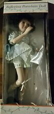 Nib Ballerina Porcelain Doll with Stand Pretty!