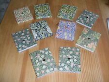 GIFTED STATIONERY COMPANY 10 MINI WILLIAM MORRIS NOTE PADS HANDBAG SIZE PAPER