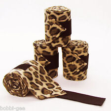 LEOPARD PRINT - FLEECE POLO LEG WRAPS – HORSE SIZE