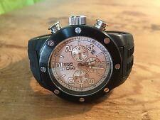 Used - Chronograph Watch GOGO Reloj - Case 44 mm - Steel and Rubber - Usado