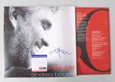 52301 Andrea Bocelli Opera Amore Signed Record Album Vinyl AUTO PSA/DNA COA
