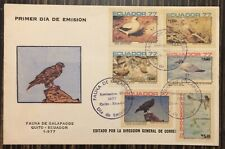Ecuador Galapagos Islands Cover Complete FDC Set 1977 Birds of Galapagos Islands