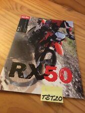 Aprilia RX50 RX 50 moto prospectus catalogue pub brochure prospekt catalog