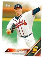 2016 Topps Pro Debut #51 SEAN NEWCOMB RC Rookie Atlanta Braves QTY AVAILABLE