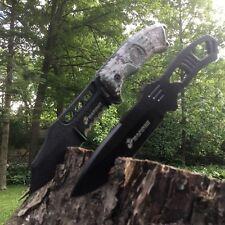 "8.5"" USMC The Grunt Fixed Blade Two Piece Tactical Knife SET DESERT CAMO Marines"