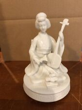 Porcelain Asian Oriental Chinese Japanese Figurine Geisha Woman Musical