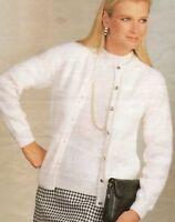 "Easy Knit Ladies Classic Twin Set Cardigan Sweater Knitting Pattern 32-44""DK1131"