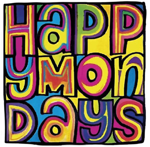 Happy Mondays Retro 90s Car Sticker 8cm x 8cm