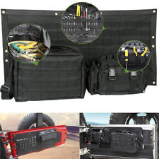 Tailgate Pad Cover Cargo Storage Bag Pocket Tool Kit Organizer For Jeep Wrangler