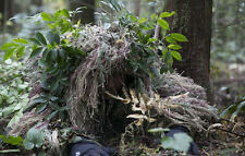 3D Quiet Jungle Grass Ghillie suit Yowie Camouflage Head Cover Hood