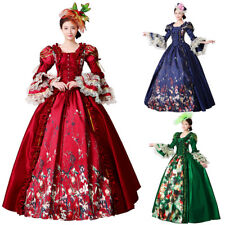 Medieval Dress Maria Antonia Victorian Cosplay Women Theater Halloween Costume