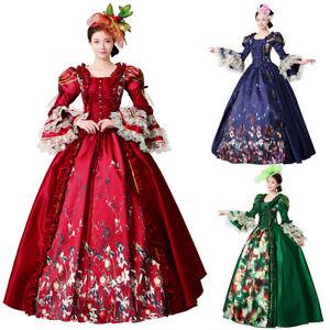 Medieval Dress Maria Antonia Victorian Cosplay Women Theater Halloween Costume