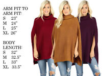 Women Oversize Knit Cape Poncho Shawl Scarf Pullover Tunic Jacket Coat Sweater