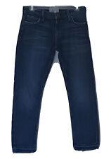Current Elliott The Cropped Straight Jean Size 25 Blue Stretch Raw Hem
