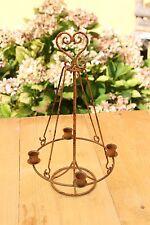 ♛ Kerzenhalter für 4 Kerzen Kerzenständer Edelrost Landhaus Weihnachten ♛