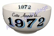 Bol année de naissance 1972 en grès - idée cadeau anniversaire neuf