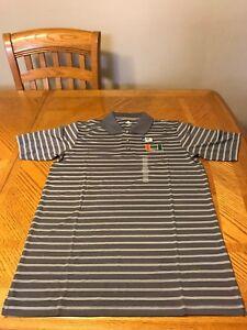 University of Miami Hurricanes Polo Shirt Sweater NCAA T-Shirt Medium