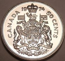Canada 1974 Proof 50 Cents~Read Why Proofs Are The Best Coins~Free Shipping