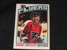 Philadelphia Flyers Andre Dupont Signed 1976/77 OPC Autograph Card #131  H14