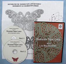 Russian Tape Lace Bobbin Lace Making Instructional Dvd Set Lia Baumeister-Jonker