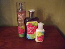 BATH AND BODY WORKS SUNKISSED BERRY 3 PIECE SET