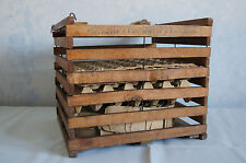 Humpty Dumpty wood egg crate w/inserts holds 10 dz Cummer Mfg Cadillac MI GUC