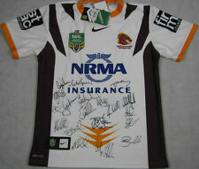 2014 Brisbane Broncos Heritage Jersey Hand Signed x 19 + Photo Proof