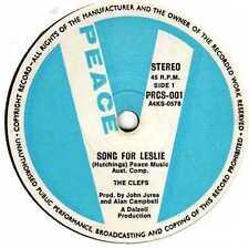 "CLEFS - SONG FOR LESLIE / PRINCESS OF SMILES - RARE OZ 7"" VINYL - PROG / ROCK"
