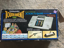 Vintage Unisonic Tournament 2000 Electric Video Game Console System And Box