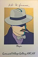 b.b. la femme, Original Serigraph, Player, Greenwich Village Gallery, NYC, 1981