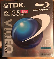 TDX Video Blu-ray BD-RE Disc Rewritable BS 135 25G NEW SEALED FREE SHIPPING