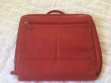 Levenger Leather Laptop Case Red Color